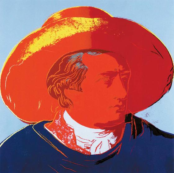 앤디 워홀의 'Goethe II. 271'(1982), ⓒ 2017 The Andy Warhol Foundation for the Visual Arts, Inc. / Licensed by SACK, Seoul