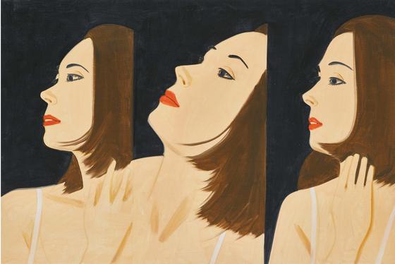 'Laura 8'(2017), Oil on linen, 152.4×228.6 cm ⓒ Alex Katz, VAGA, New York, SACK/Korea, 2018