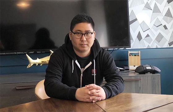 직장인 전용 익명 커뮤니티인 블라인드를 운영하는 문성욱 '팀블라인드' 창업자 겸 대표.