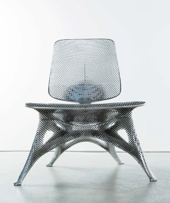 Microstructures Gradient Aluminum Chair