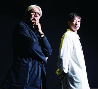 'Ryuichi Sakamoto: Life, Life'전을 위해 내한한 세계적인 음악 거장 사카모토 류이치와 뮤지션 정재일이 만났다. [권혁재 사진전문기자]
