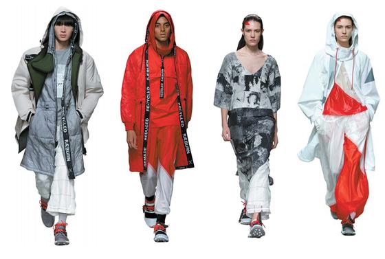 지속가능한 패션의 선두 주자인 크리스토퍼 래번(Christopher Raeburn)의 컬렉션.