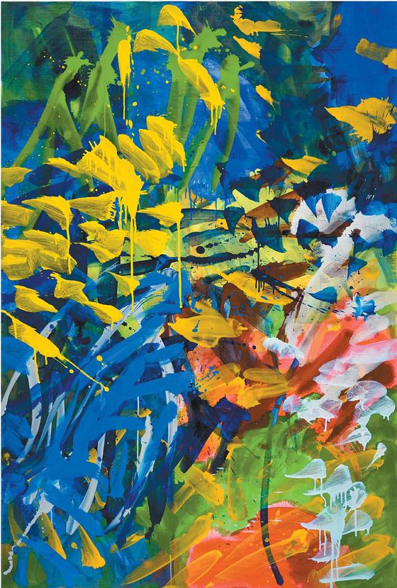 'Dialogue'(2017), Oil on canvas, 193.8 x 130.2cm