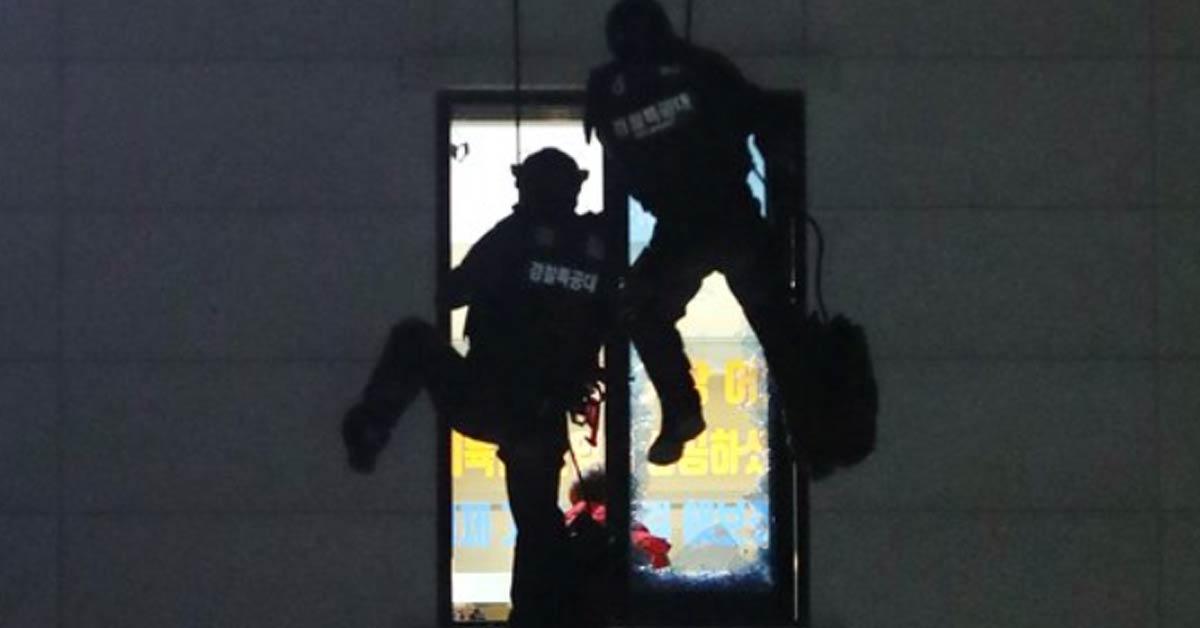 청주 12 시간 휘발유 폭동 종식