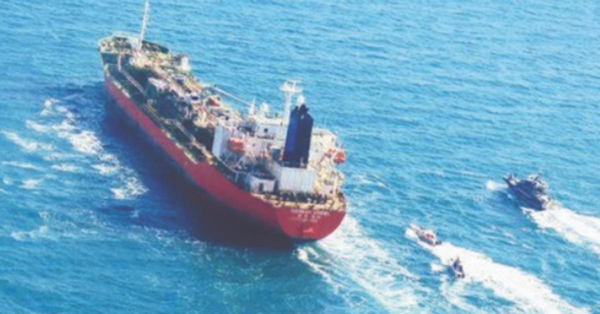 """[단독] 한국 선박 """"이란 군함 조사 요청, 해양 환경법 위반 없음"""""""
