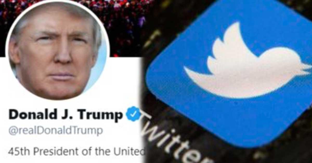 트럼프 3 조 '8 천 8 백만 팔로워'가치?  트위터의 주가는 종료 후 폭락