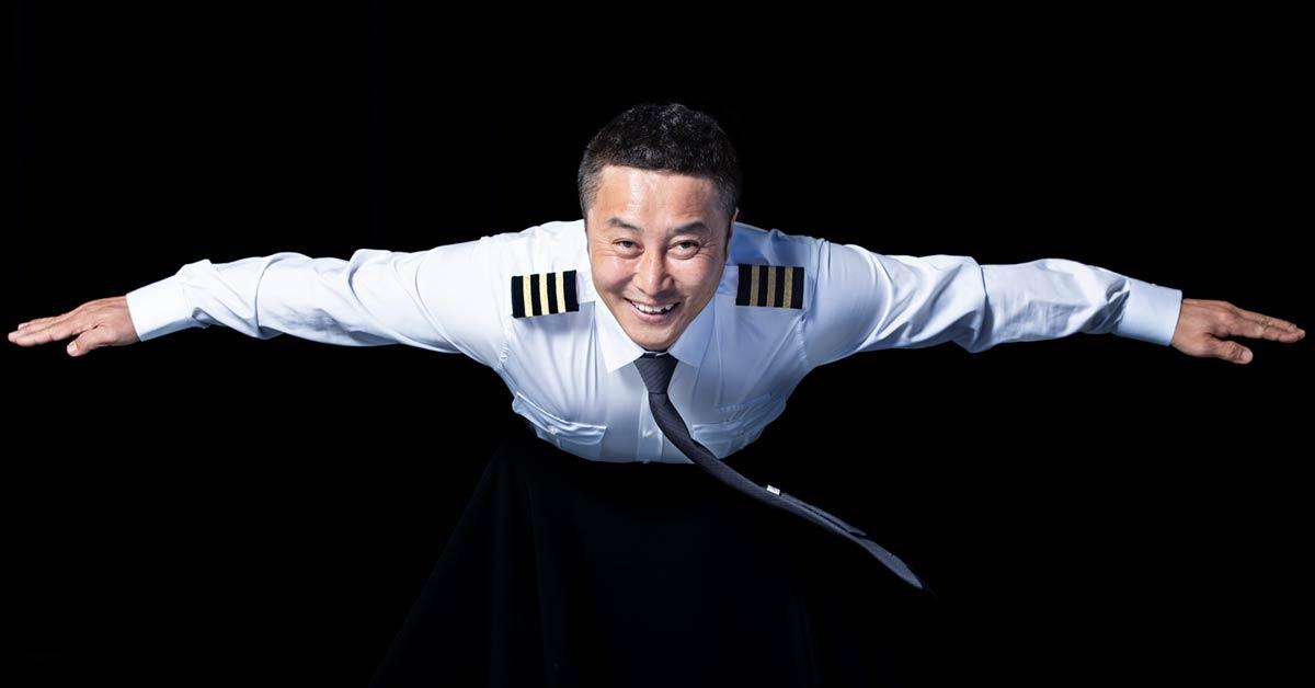"""[단독]김병만, 31 번 도전 끝에 조종사 … """"죽을 때까지 꿈을 꾸겠다"""""""