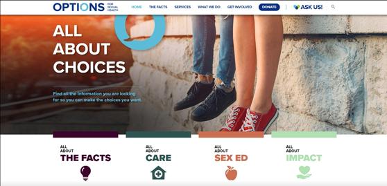 캐나다 BC주 정부가 운영하는 성적 건강 홈페이지(Option for sexual health). 임신과 피임, 성병, 낙태 등 성적 건강과 관련한 대부분의 정보가 게시되어 있다. 출처: Option for sexual health