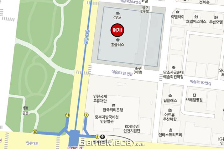 펀잇 인천구월점 매장 약도 (사진제공: 류난)