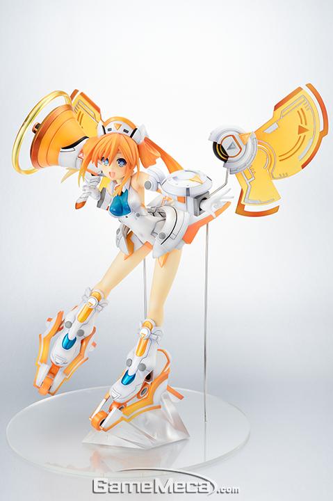 (사진21ABCD) 하비재팬 오렌지하트 1/7 스케일 피규어. 오렌지 같은 상큼함과 발랄함 그리고 귀여움까지 느껴지는 오렌지 하트. 드림캐스트의 색과 특징을 잘 나타낸 여신입니다. 2017년 11월 발매 예정이며, 가격은 16,000엔(세금별도) (사진출처: 하비재팬 공식 홈페이지)