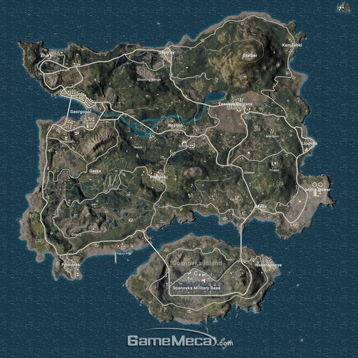 한동안 '배틀로얄' 장르를 표방한 게임에선 대부분 에란겔과 비슷하게 생긴 맵을 꼭 하나씩