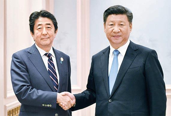 하루 전날에 확정된 시진핑·아베 회담…G20 끝난 뒤 양국 국기도 안 걸고 만나