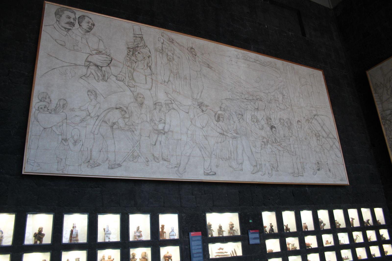 아나우아깔리 내 벽화 밑그림.