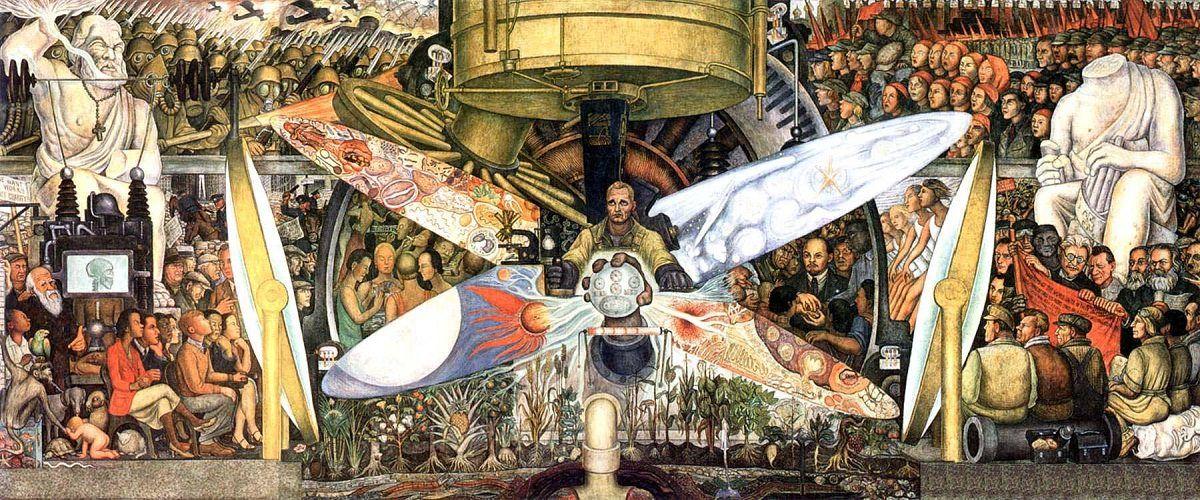 예술궁전-디에고 리베라- 인간, 우주의 지배자.