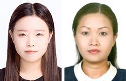 박유영(左), 김수안(右)