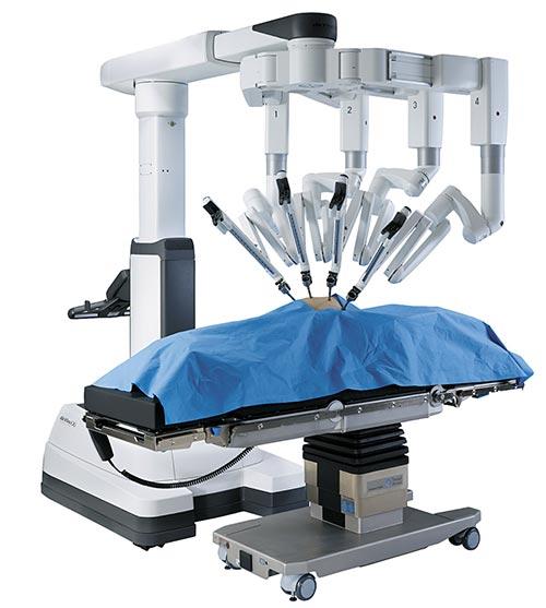 로봇 수술기 '다빈치 Xi'와 환자용 침대 '테이블 모션 테크놀로지'. [사진 인튜이티브서지컬]