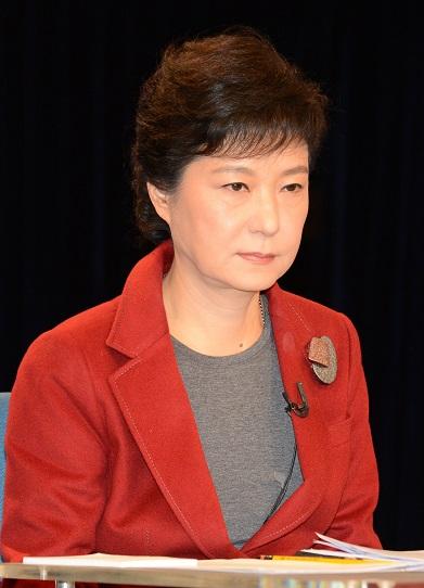 2012년 대선 후보 토론에 나선 박근혜 새누리당 후보