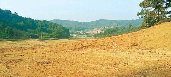 최근 재추진에 들어간 평택 삼성브레인시티 예정지 인근에 판매 중인 토지 사진. 개발에 따른 수혜효과가 예상돼 투자자들의 관심이 쏠린다.