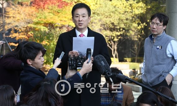 박근혜 대통령 변호인 유영하 변호사. 김춘식 기자