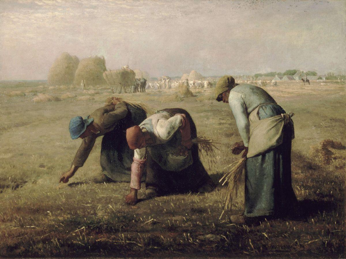 이삭 줍기(1857), 장-프랑수아 밀레 작, 캔버스에 유채, 83.8×111.8㎝, 오르세 미술관, 프랑스 파리