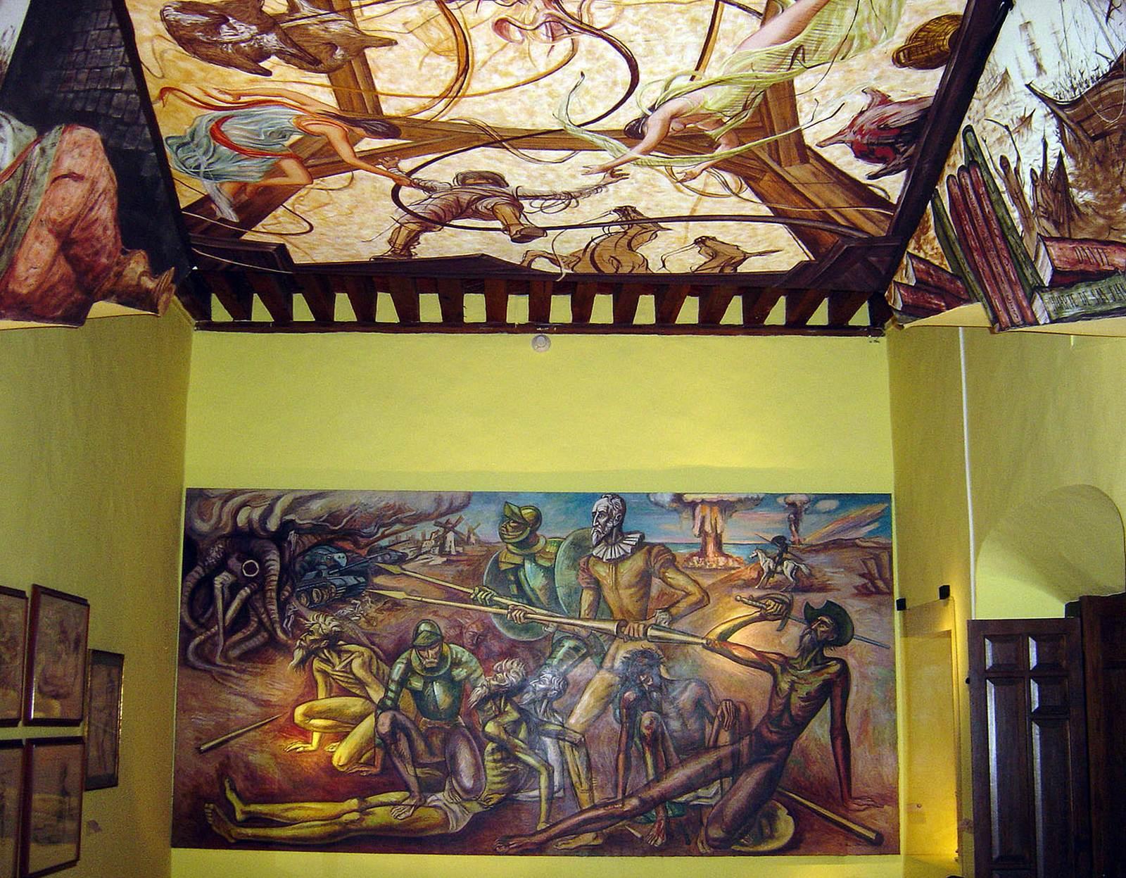 돈키호테 박물관 내부.