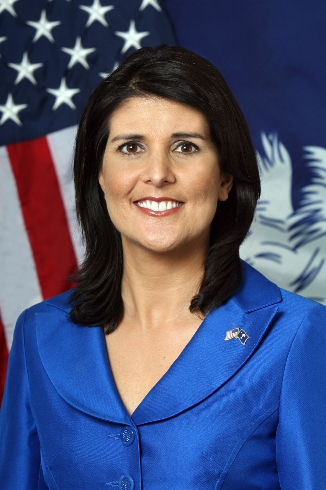 유엔주재 미국대사로 지명된 니키 헤일리 사우스캐롤라이나 주지사. [중앙포토]