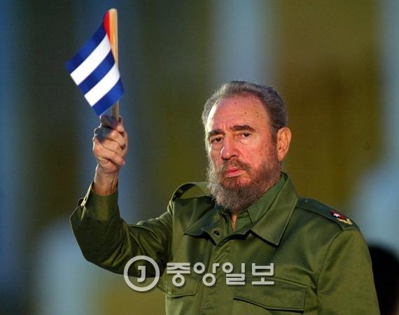 쿠바의 공산주의 혁명 지도자 피델 카스트로가 26일 향년 90세로 사망했다. [중앙포토]