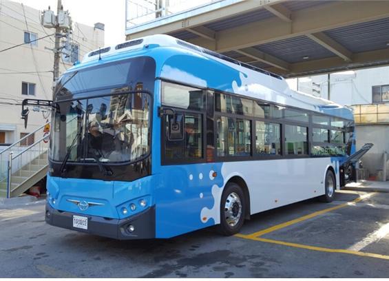 부산에 운행될 전기시내버스. [사진 부산시]