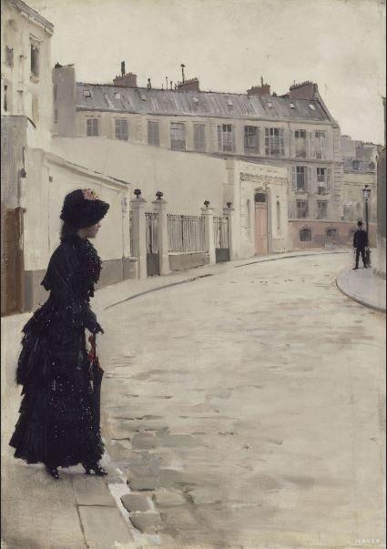 장 베로, 기다림. 파리 샤토브리앙 거리, 19세기경