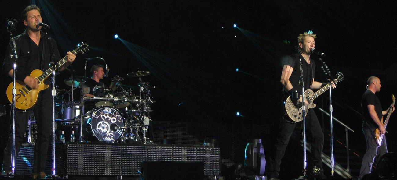 캐나다의 록밴드 `니켈백`.   [사진 위키피디어]