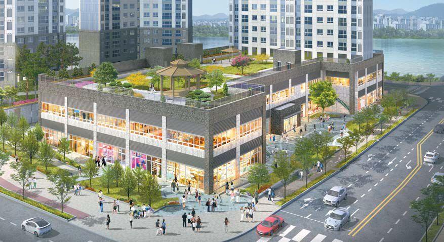 울산KTX신도시 동문굿모닝힐 단지내 상가 조감도. 583가구의 아파트 입주민 고정수요와 주변 개발호재가 풍부해 투자자의 관심을 끈다.