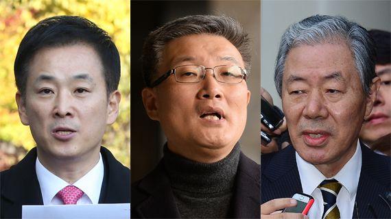 유영하·김종민·이경재 변호사(왼쪽부터) [중앙포토]