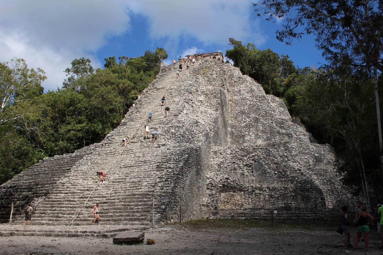 코바유적 피라미드.
