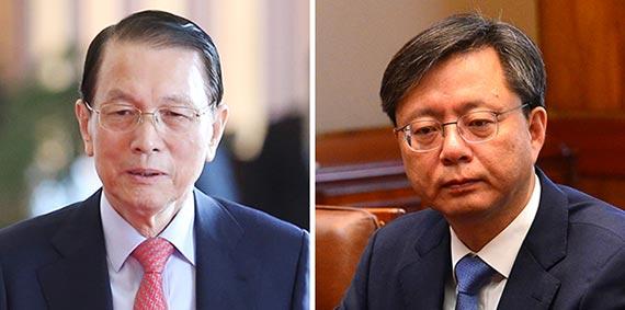 김기춘(左), 우병우(右)