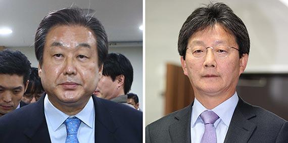 김무성(左), 유승민(右)