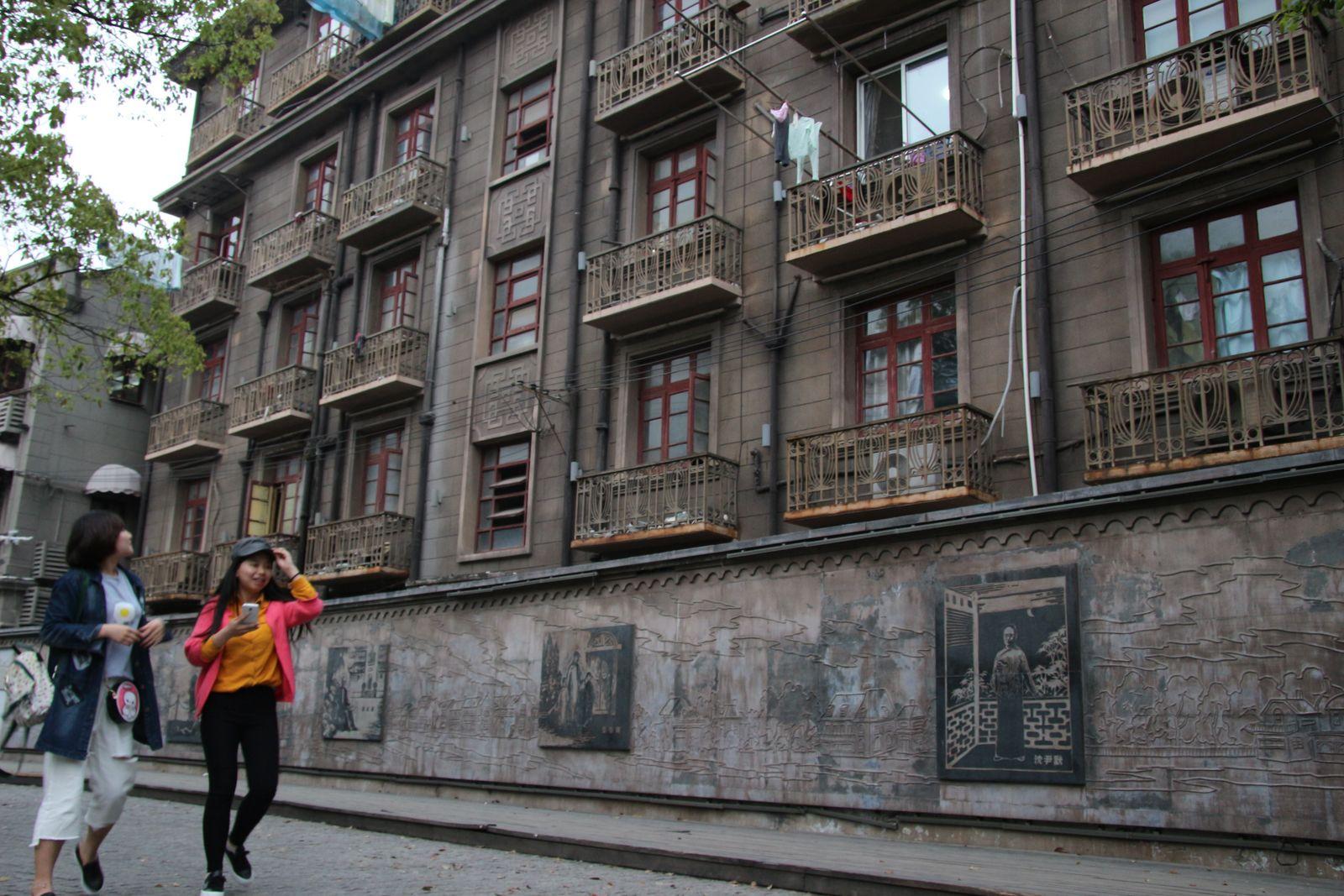 상하이의 문학인 거리 둬룬루. 루쉰의 옛집에서 가깝다.
