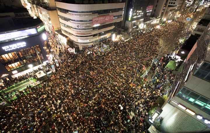 광주 박근혜 퇴진 요구 6차 촛불집회