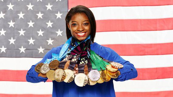 미국 여자 체조 국가대표 시몬 바일스.