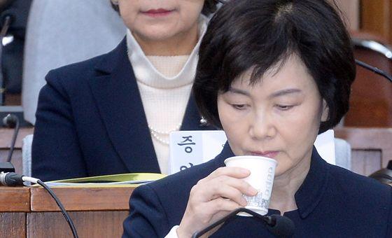 15일 국조특위 청문회에 출석한 최경희 전 이대 총장. [사진공동취재단]