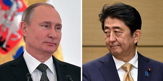 푸틴(左), 아베(右)