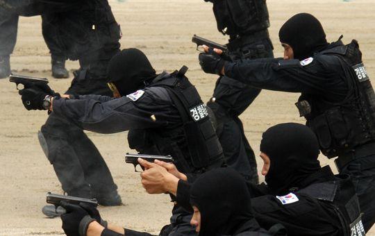 경찰특공대의 사격훈련 모습 [기사와 관련 없음]