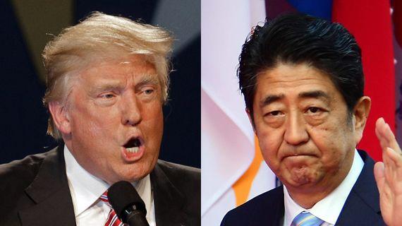 도널드 트럼프(제 45대 미 대통령 당선인·왼쪽), 아베 신조(일본 총리)