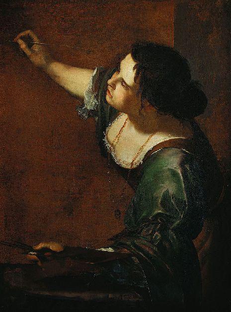 아르테미시아 젠틸레스키의 '자화상' (1638~39)