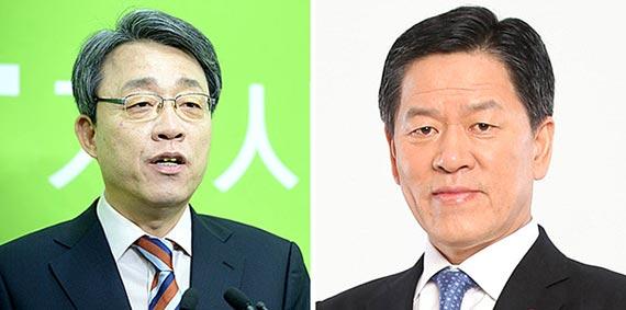 김성식(左), 주승용(右)