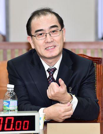 태영호 전 영국 북한대사관 공사가 23일 국회 정보위원회에 출석했다. [사진 중앙포토]