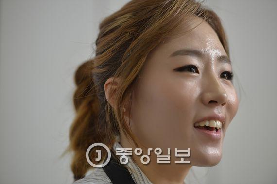 `빙속 여제` 이상화 선수. 김현동 기자