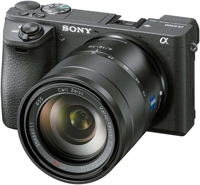 소니의 플래그십 APS-C 타입 미러리스 카메라 A6500. 2420만 화소의 진보된 고해상도 화질에 전문가급의 4K영상 촬영도 가능하다. [사진 소니코리아]