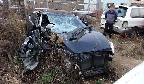대리운전기사 A씨가 몰고 가다 사고를 낸 K7승용차. [사진 대전경찰청]