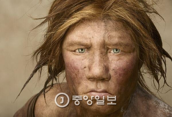 지구상에서 사라진 네안데르탈인 여성의 모습. 화석과 유전자 분석을 통해 추정한 것이다. [중앙포토]
