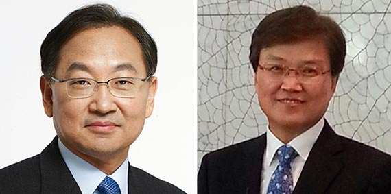 유일호(左), 최양희(右)